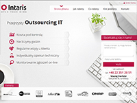 Intaris - Outsourcing IT - wykonane przez VisualTeam.pl